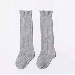 NEW🎉 Gray High Thigh Soft Knit Vintage Look Socks